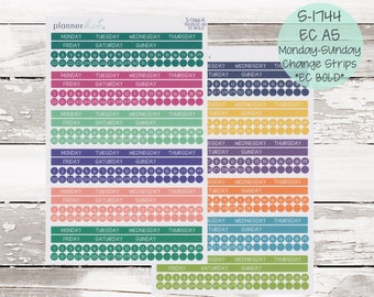 S-1744    EC A5 Monthly Monday - Sunday Change Strips - EC BOLD