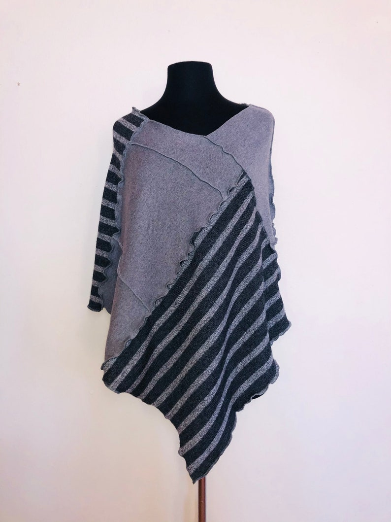 Upcycled Patchwork Sweater Poncho