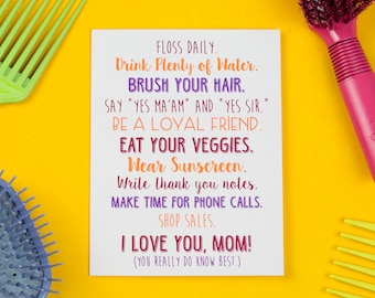 Mother's Day Card, Mom Knows Best Card