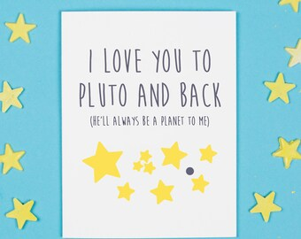 To Pluto and Back Card, Love