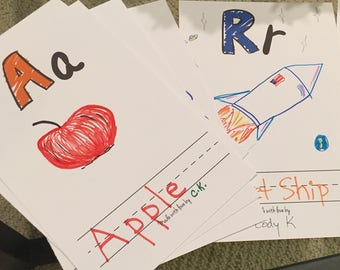 Baby Shower Activity/Game: DIY Baby Alphabet Book [Instant Download PDF Printable]