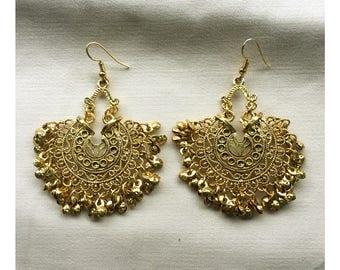 Boho chic ethnic chandelier earrings