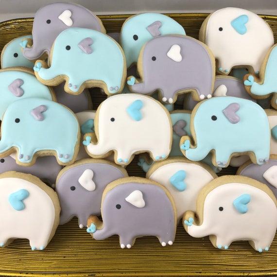Elephant sugar cookies | Etsy