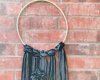 Yarn Embroidery Hoop Wall Art Decor