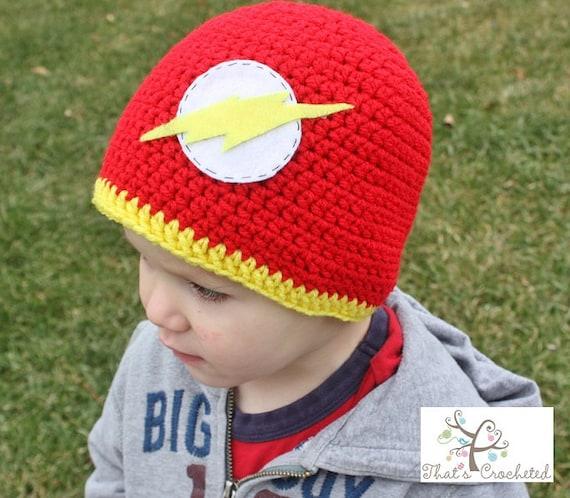 Flash inspired superhero hat crochet boy hat crochet hat  df2efabc221