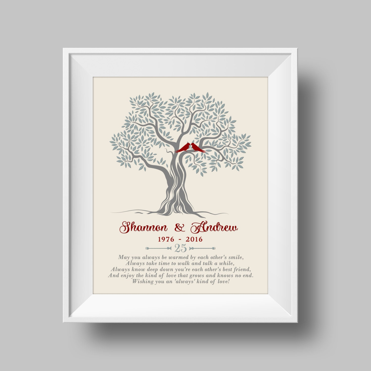 Australian Wedding Anniversary Gifts By Year: 25th Anniversary Gift For Parents 25th Wedding Anniversary