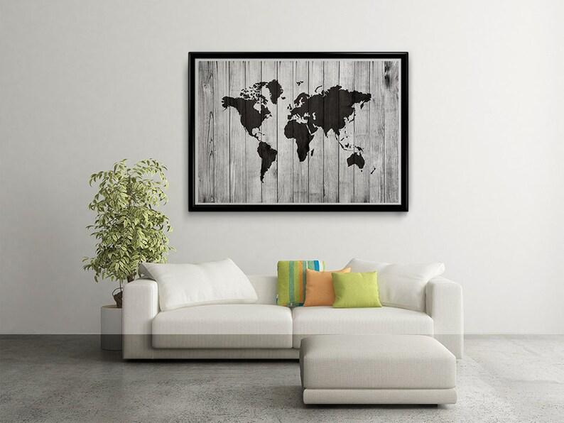 World Map Wood World Map Poster World Map Art World Map image 0
