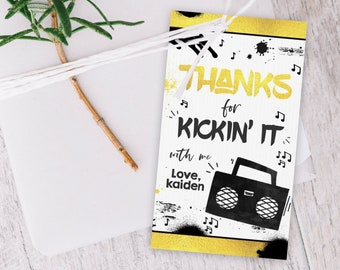 Two Legit To Quit Birthday Favor Tag Legit Gift Tag Hip Hop Two Legit To Quit Party Hip Hop Favor Tags Instant Download Editable TL