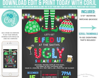 Ugly Sweater Invite Etsy