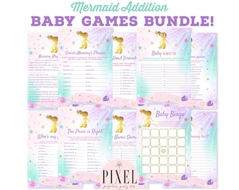 Mermaid Baby Shower Games Etsy