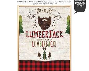 Lumberjack quote | Etsy
