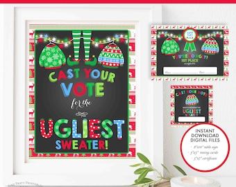 Ugly Sweater Voting Etsy