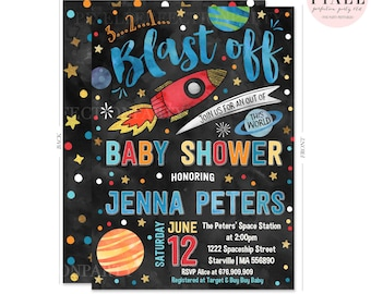 space baby shower invitation out of this world baby shower invitation outer space baby shower invitation rocket ship baby boy baby shower