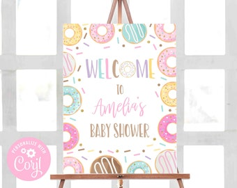 DNTB Donuts Sprinkle Favor Tag Template Baby Shower Favors Tag Baby shower boy Donuts baby shower Oh baby