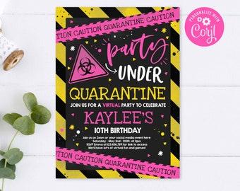 Editable Quarantine 1st Birthday Party Invitation Etsy