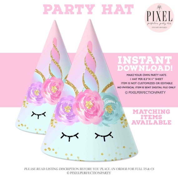 Unicorn Party Hat Printable Magical