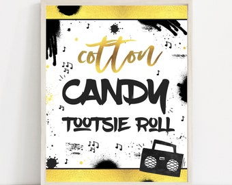 90s Hip Hop Birthday Party Sign 90s Rap Birthday Party Sign Rap Birthday Two Legit To Quit Party Notorious One Birthday Instant Download TL