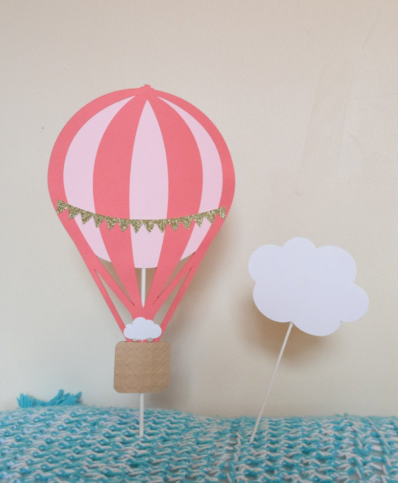 Hot Air Balloon Centerpiece Smash Cake Decor Baby Shower | Etsy
