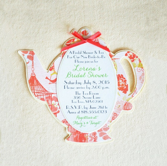 Teapot bridal shower invite teapot baby shower invite etsy image 0 filmwisefo