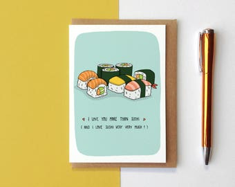 I Love You More Than Sushi Card