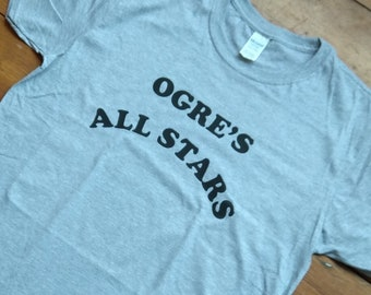b2811baae Ogre's All Stars T-Shirt - As Worn By Frank Zappa, 1960's, Retro, Various  Colours