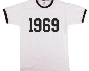 1969 Ringer T-Shirt - Reggae, Ska, Mod, All Sizes & Colours