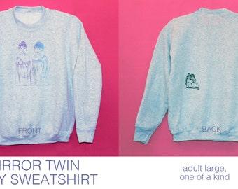 MIRROR TWIN Grey Marl Sweatshirt