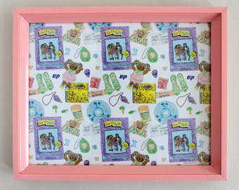 90's GIRL Pattern Print with Pink Frame