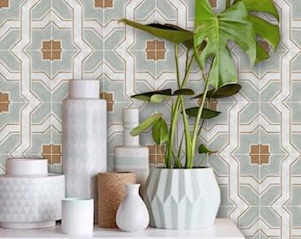 Tile stickers - Tiles for Kitchen/Bathroom Back splash - Floor decals - Lattice Mint
