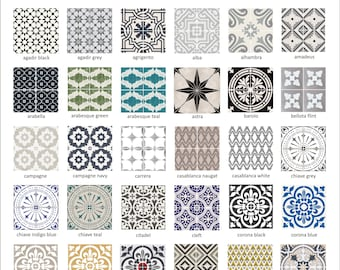 Tile decal | Etsy