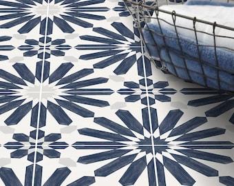 Stellino Vinyl Tile Sticker Pack in Ink Blue - Tile Decals - Floor Stickers