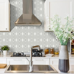 Kitchen And Bathroom Splashback Removable Vinyl Wallpaper Etsy