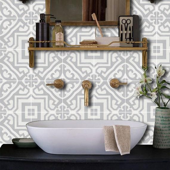 7 diy practical and decorative bathroom ideas.htm kitchen and bathroom splashback removable vinyl wallpaper etsy  kitchen and bathroom splashback