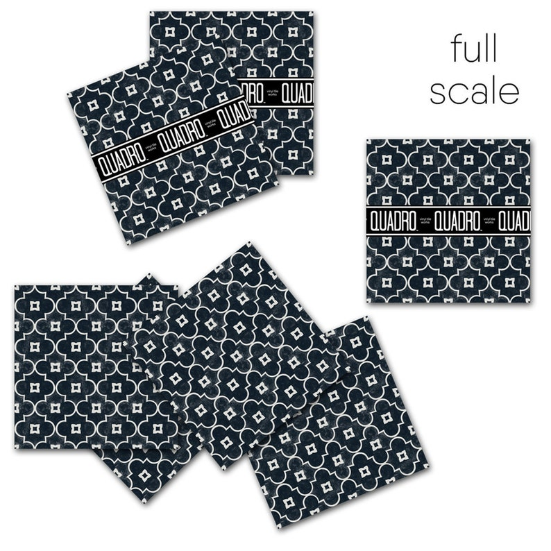 Floor decals Arabelle Tile Sticker Pack in Black Tile Decals Tiles for KitchenBathroom Back splash