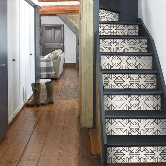 floor decor flooring checkered.htm stair riser stickers removable stair riser tile decals etsy  stair riser stickers removable stair