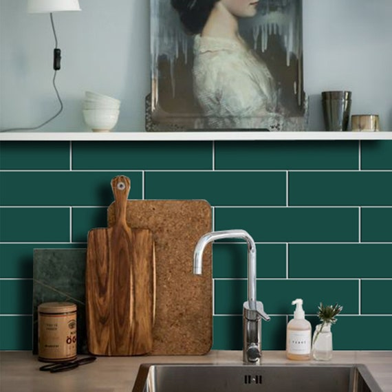 Removable Vinyl Wallpaper Bigalow Peel /& Stick Kitchen and Bathroom Splashback