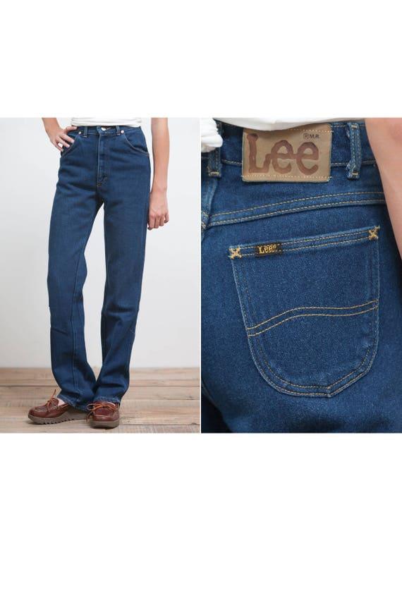 Vintage 70's Lee High Waisted Denim Jeans • Made i