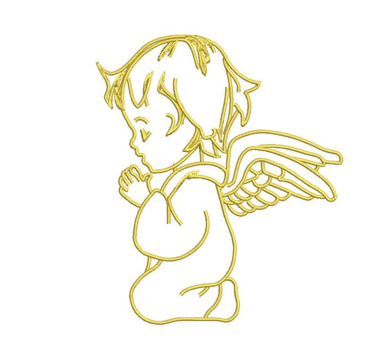 Angel Embroidery Design 3 SIZES / INSTANT DOWNLOAD 4x4 5x7 image 0