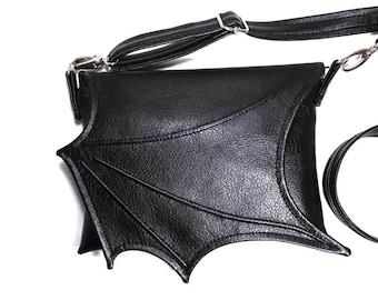 ab618480c5 Black bat wing bag