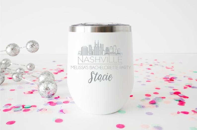 Nashville Bachelorette Party Nashville Tumbler Girls Weekend Bachelorette Party Bachelorette Party Wine Cup Party Cups Weekend Tumbler