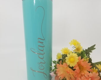 Personalized Stainless Steel Tumbler- Stainless Steel Tumbler- Personalized Gift- Personalized Tumbler- Skinny Tumbler- Personalized Cup