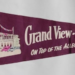 1940s-'50s era Felt Pennant Souvenir of the Grand-View Ship Hotel, Pennsylvania — Free US Shipping!