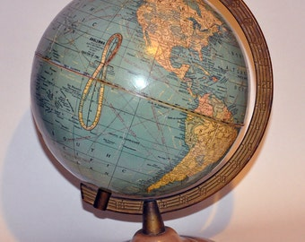 "Genuine Vintage 8"" Cram Globe ca 1949 -- Free Shipping!"