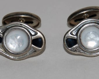 1920s-'30s Art Deco era Cufflinks  Cuff Links-- Free US Shipping!