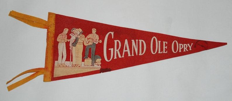 1950s era Grand Ole Opry Souvenir Felt Pennant  Free US image 0