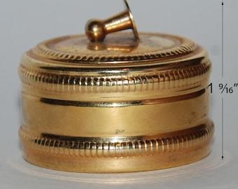1980s era Italy Brass Box for Shirt Studs -- Free USA Shipping!