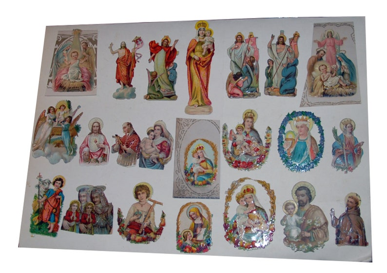 Early 1900s Religious Christian Scrapbook Embossed Die Cut image 0