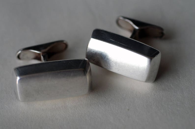 Modernist Sterling Silver Block Cufflinks by Hans Hansen image 0