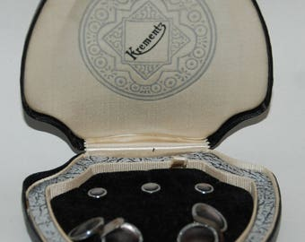 1930s-'40s era Krementz Formal Tuxedo Dress Shirt Studs and Cufflinks Set -- Free USA Shipping!
