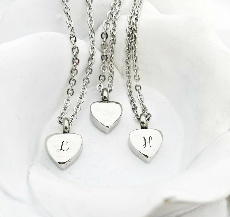 e08af3158986b Personalized Cremation Necklace Urn Necklace for ashes Heart Cremation  Jewelry Stainless Steel Urn Jewelry Custom Urn Locket HeartUrn Charm